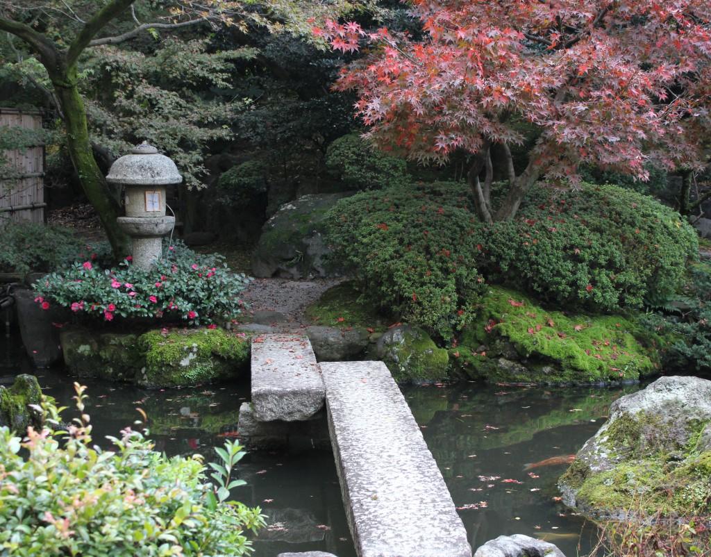 Hotel trädgården i Kyoto