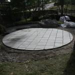 Stenläggningen klar Nu återstår dekorsten.